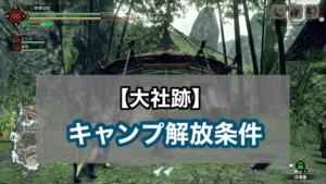 大社跡・キャンプ解放条件